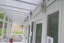 Peticular Pens - Bespoke uPVC Cattery - Cats @ Ratcliffe Luxury Cat Hotel - Safety Corridor
