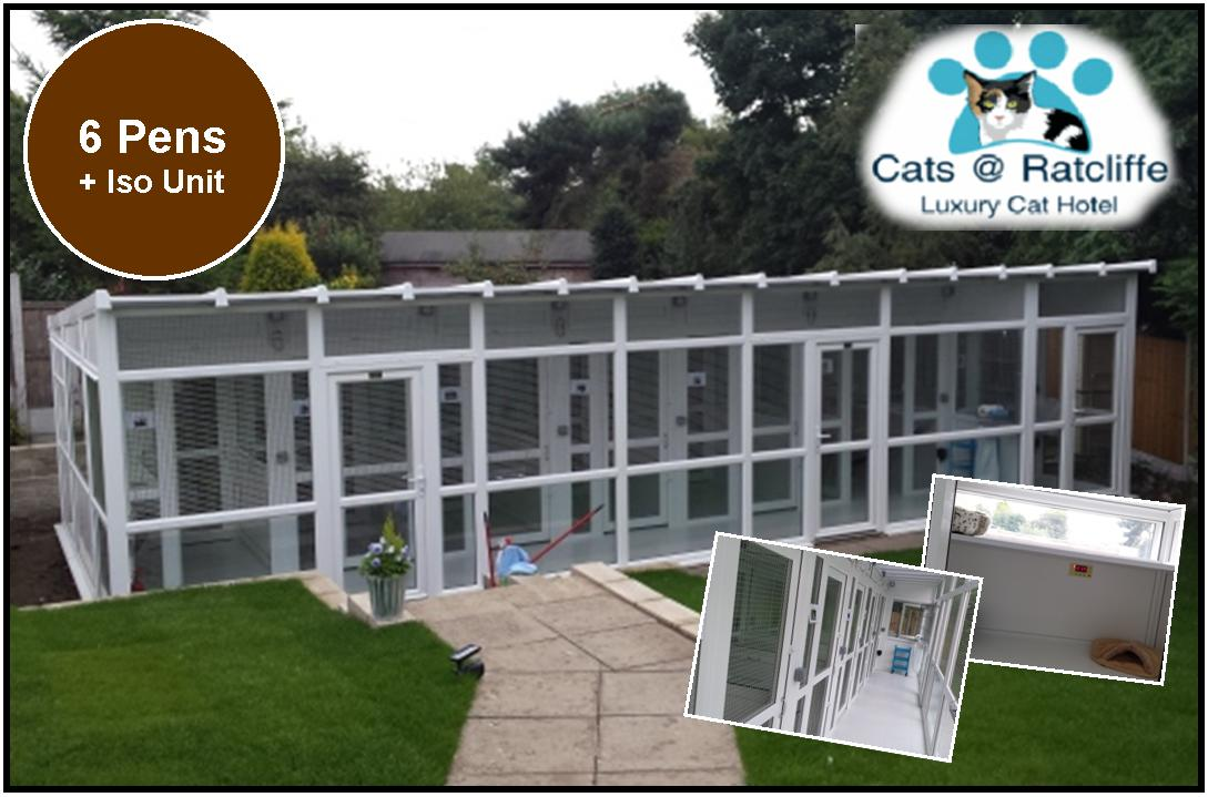 Peticular Pens - Bespoke uPVC Cattery -  Cats@Ratcliffe Luxury Cat Hotel