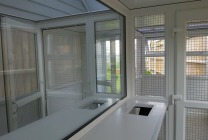 Peticular Pens - Hygienic uPVC Cattery - RSPCA West Norfolk - Exercise Area