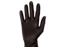 Black Mamba Nitrile glove on hand