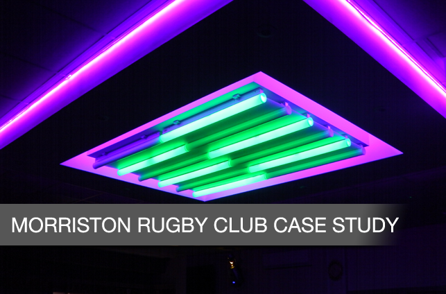 Morriston Rugby Club Lighting Feature