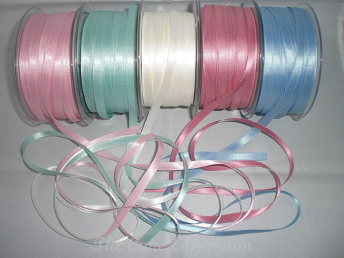 7 mm Luxurious Double Faced Satin Ribbon In Various Vintage Colours, 10m Lengths