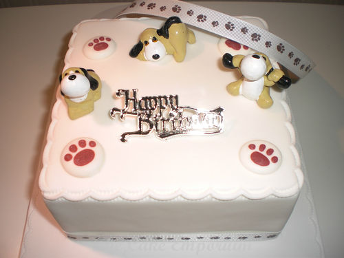 Cute Dog Lovers Birthday Cake Topper Pack