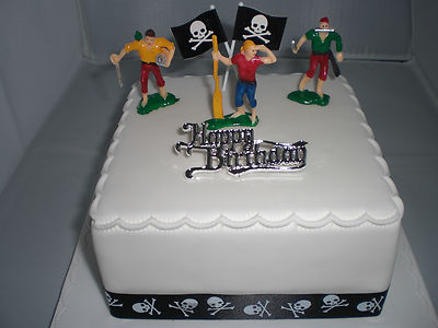 PIRATES THEME BIRTHDAY CAKE TOPPER ORMAMENT PACK - 60MM
