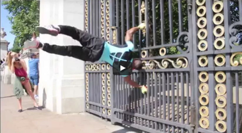 Rep As You Go - Human Flag On Buckingham Palace Gates