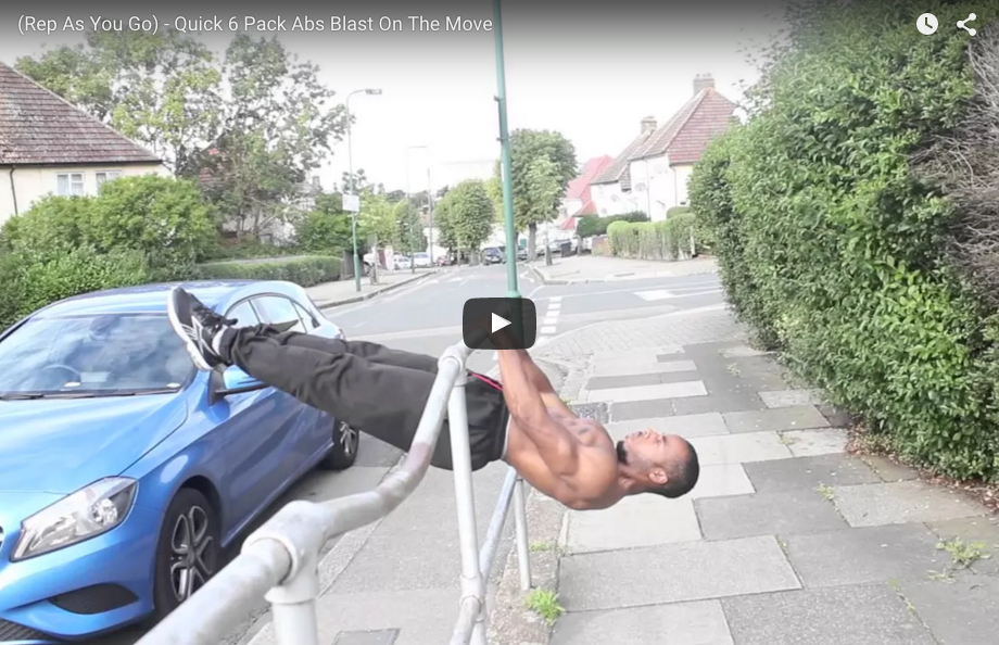 (Rep As You Go) - Quick 6 Pack Abs Blast On The Move