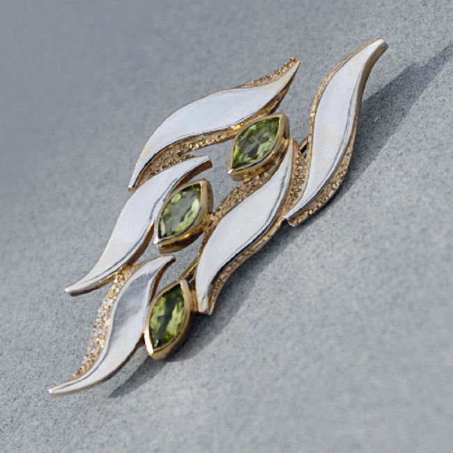 Silver Flame Brooch