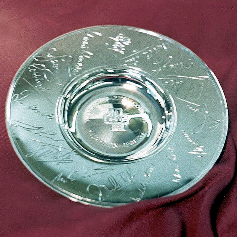 Silver trophy Plate