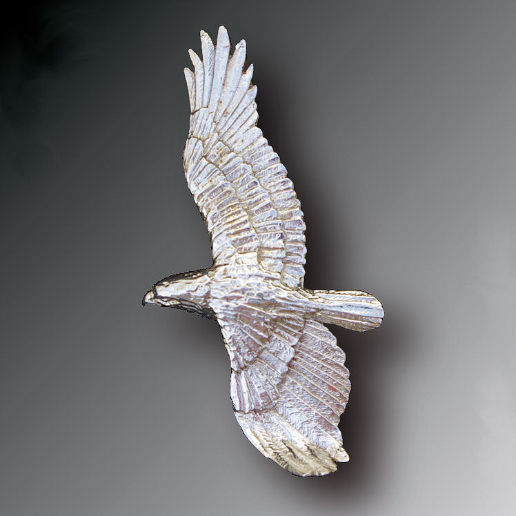 Silver golden eagle brooch