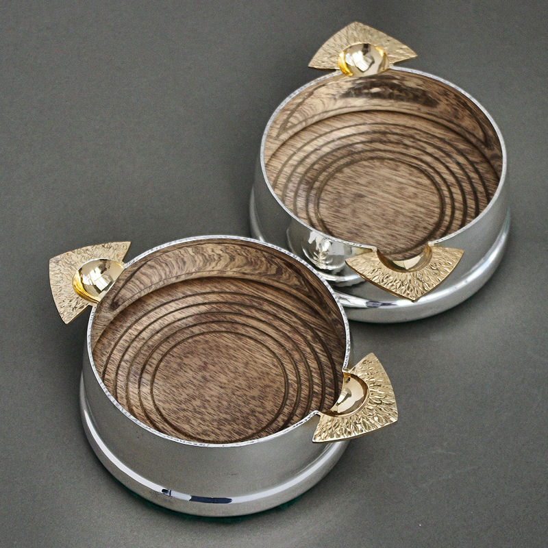 silver wine Bottle coasters