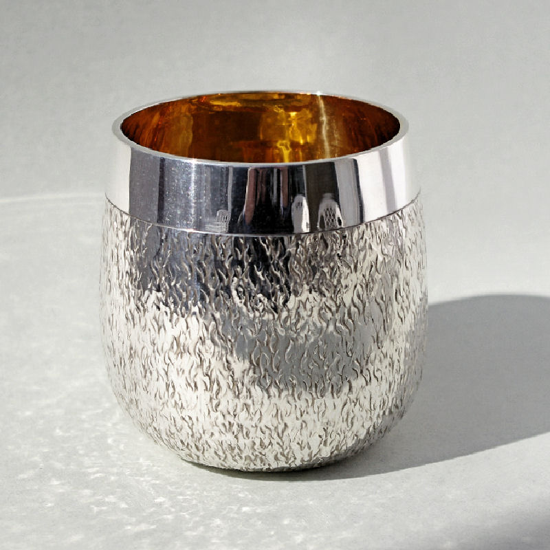 Large Silver Whisky Tumbler