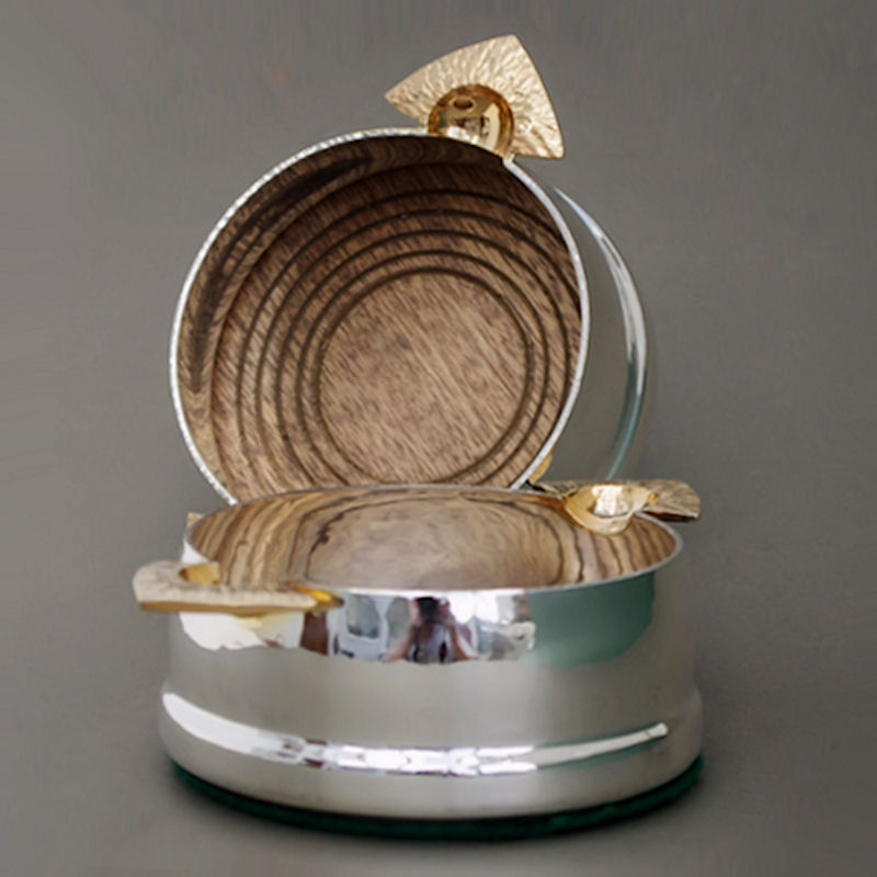 silver wine bottle coaster