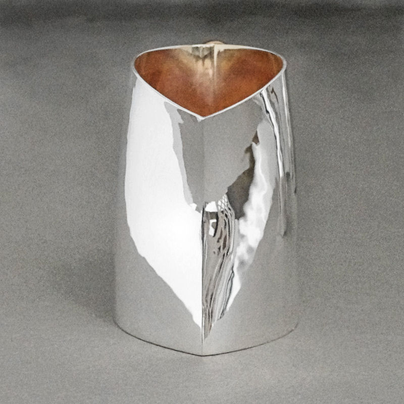 contemporary silver cream Jug