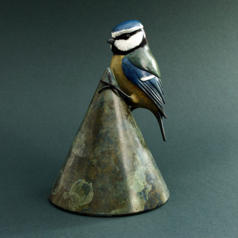 Bronze Bluetit sculpture