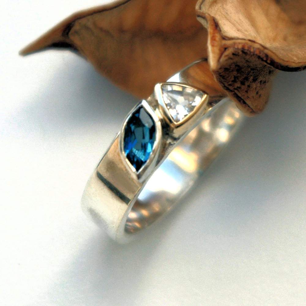 Blue and white Topaz