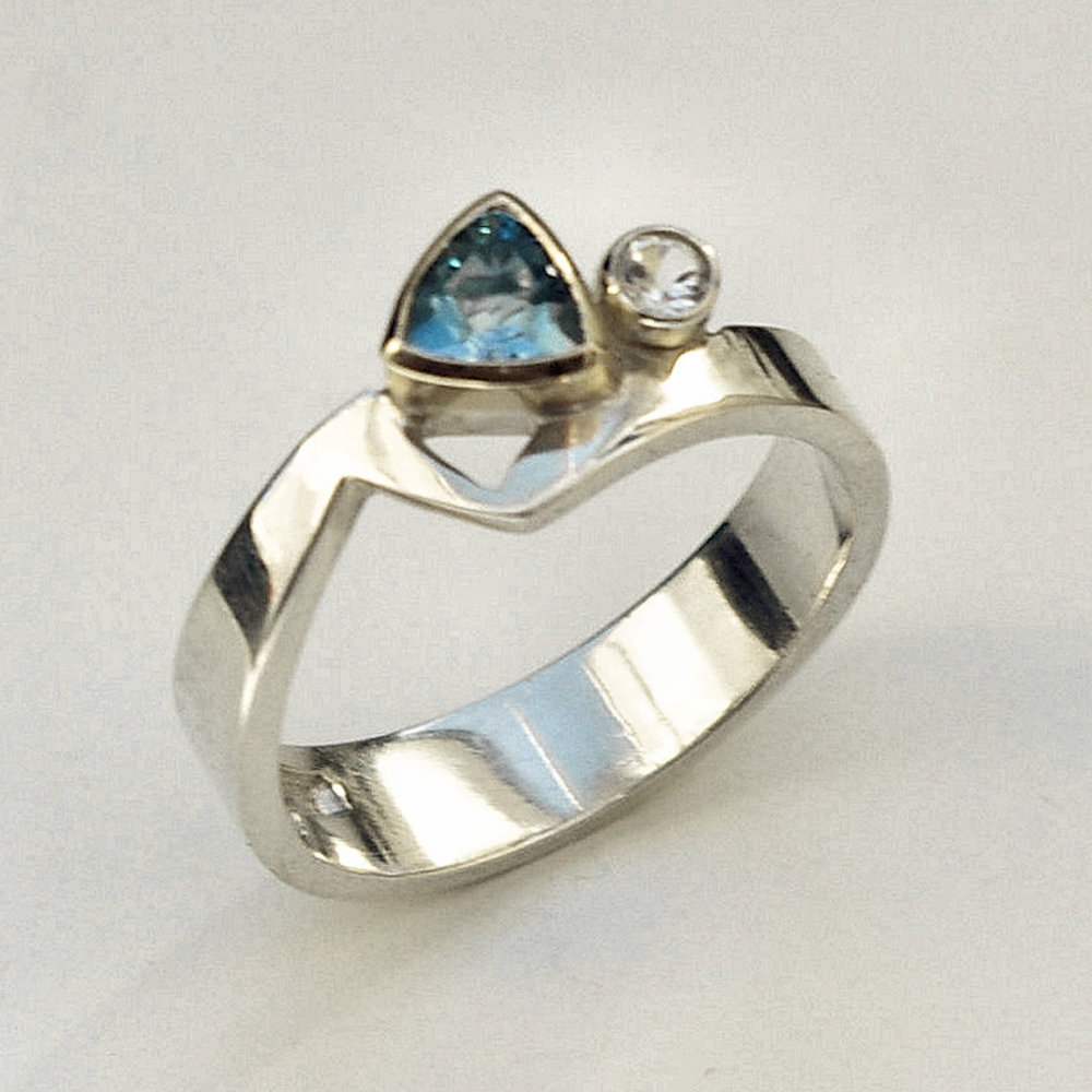 AAA Aquamarine ring