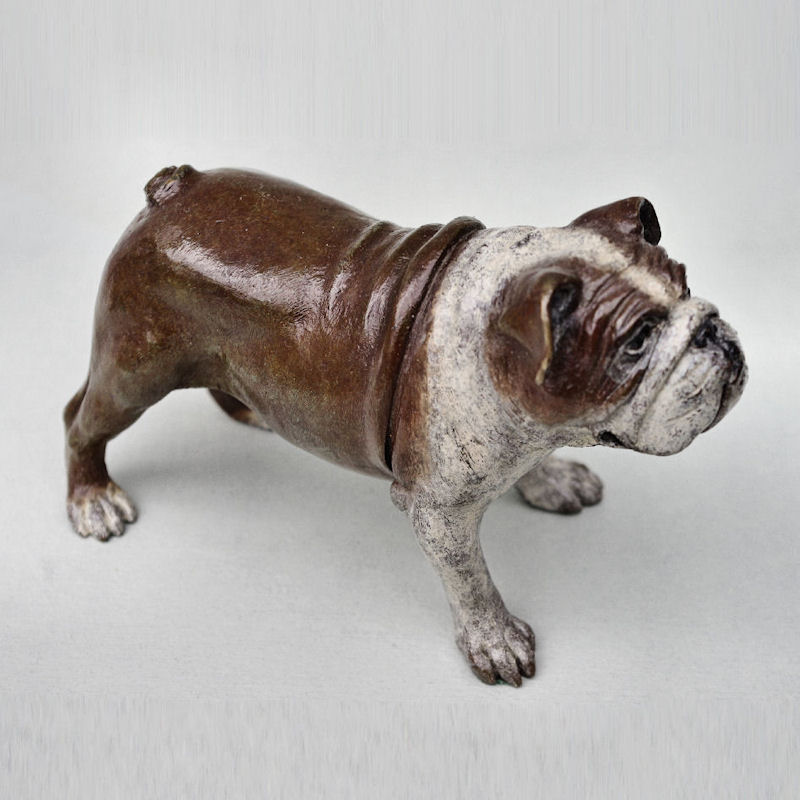 Bronze Bulldog front right