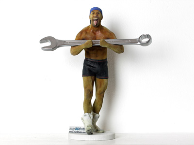 Strongman with key
