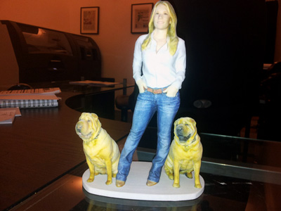 Blond lady with dogs