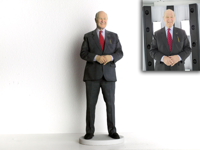 my3dtwin of  old man in suit