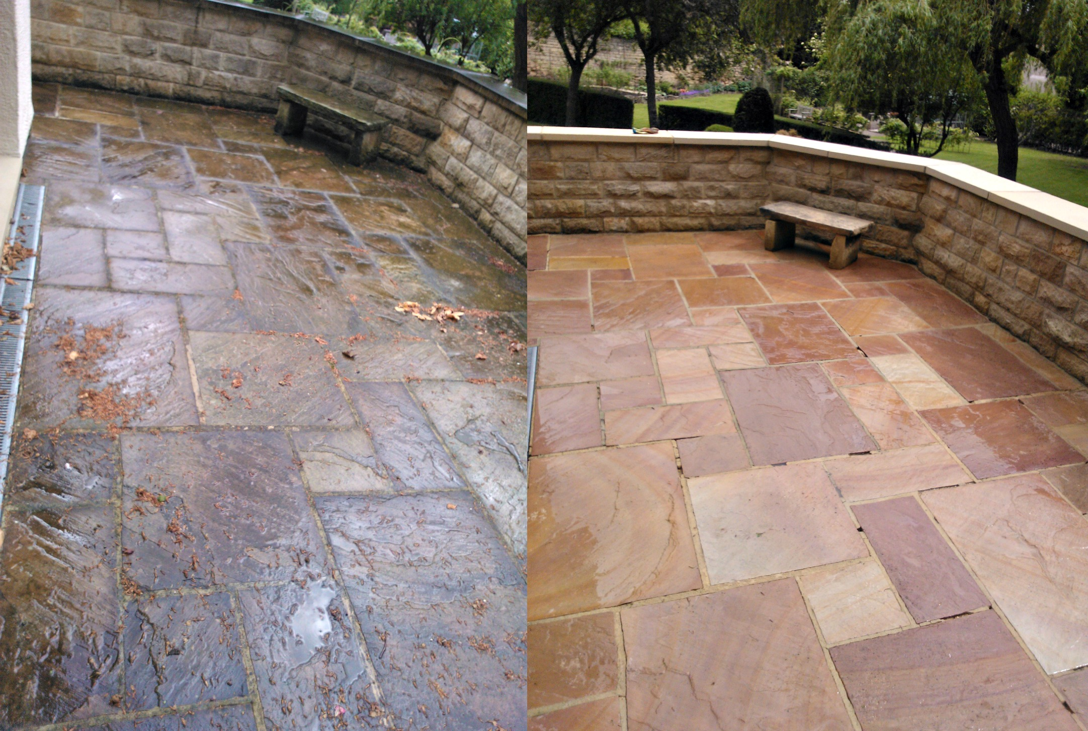 Patio driveway cleaning for Patio cleaning solution