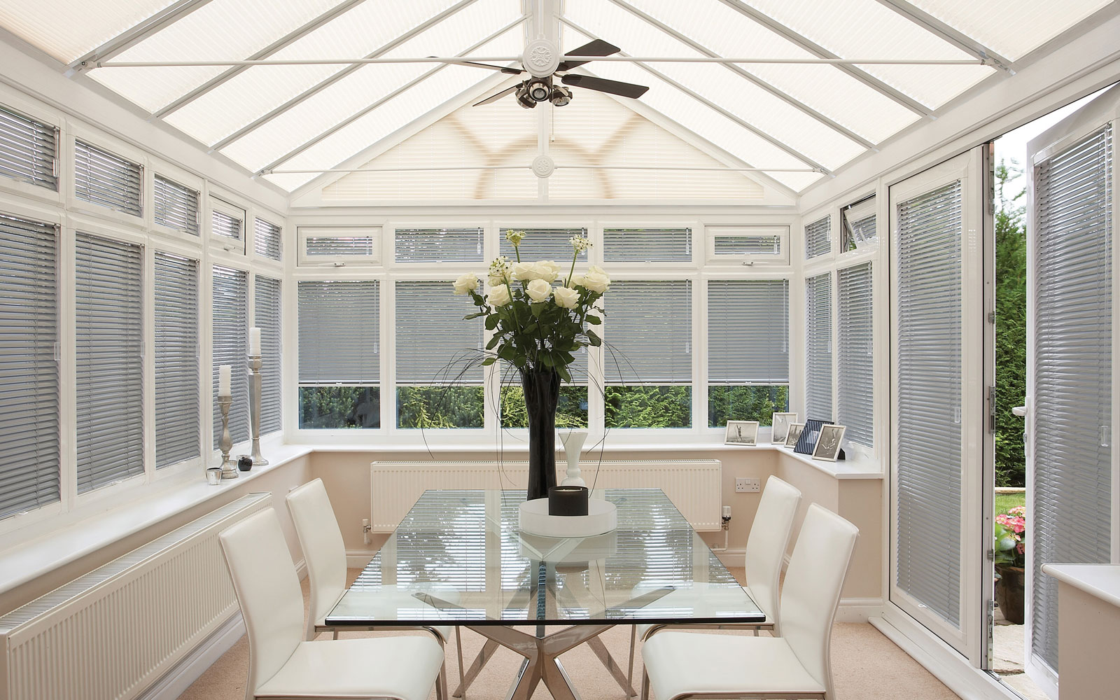 Silver Conservatory Roof Blinds 2017 Grasscloth Wallpaper