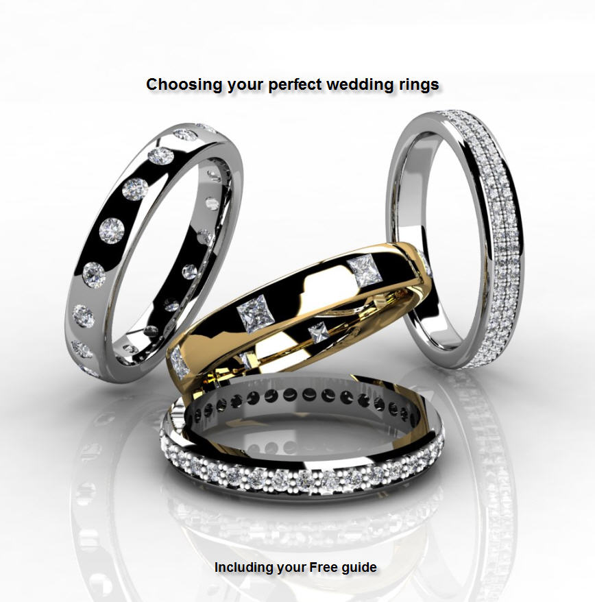 Bespoke diamond wedding rings