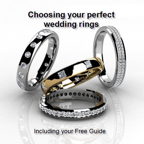 Diamond bespoke wedding rings