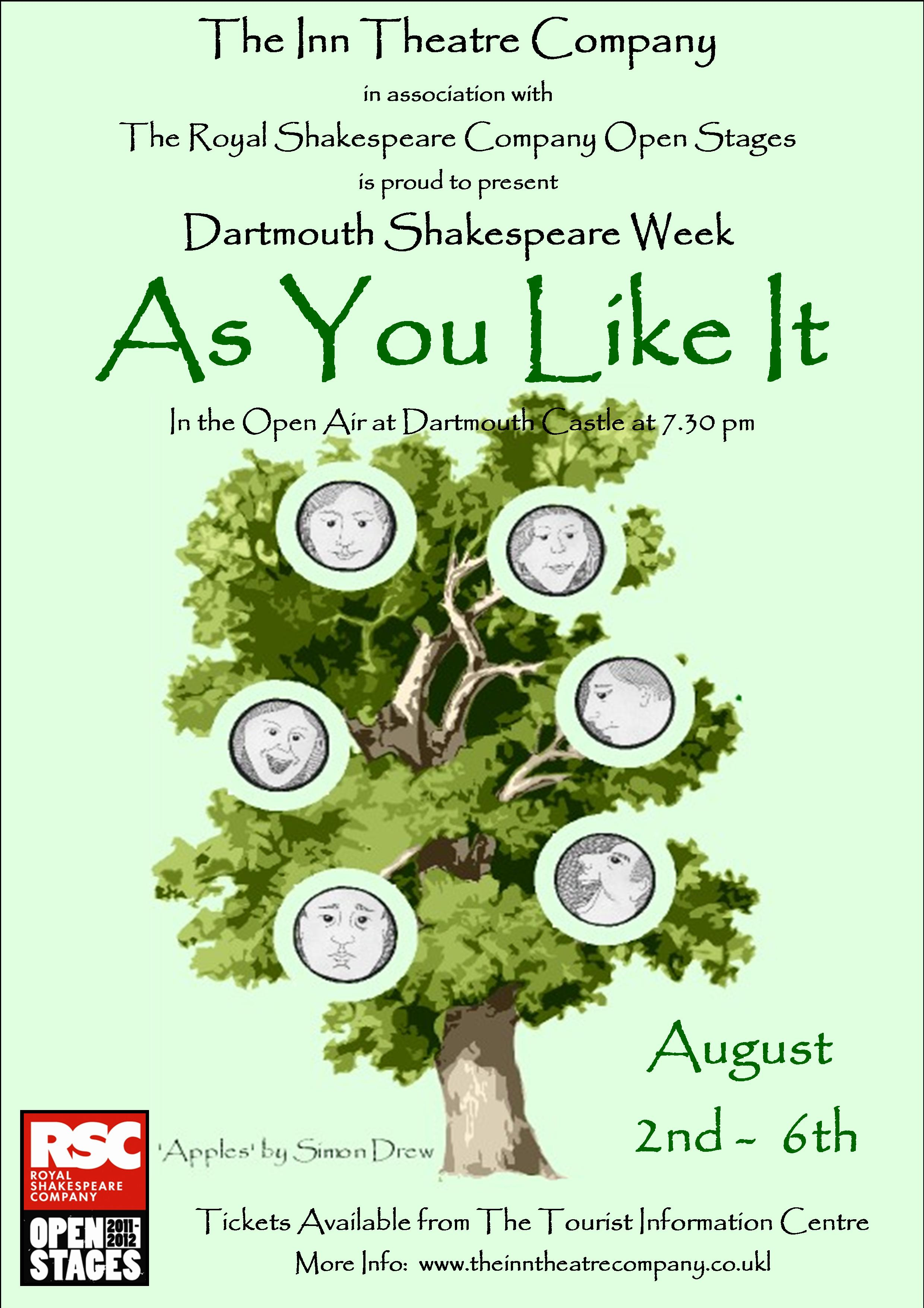 As You Like It poster - copyright Simon Drew