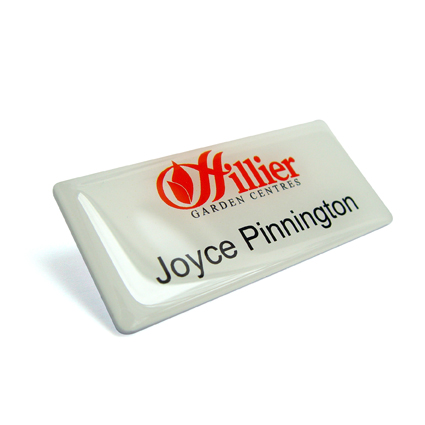 badges, K and R badges, K & R Badges, promotions, personalised name badges, identification, in-house design, acrylic, domed front, metal, gold, silver, photo,