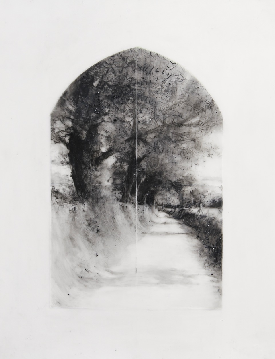 A Cathedral of Trees, Drawing 04-17 by Laurie Steen