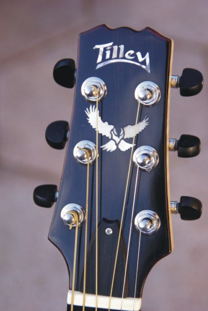 Ebony headstock