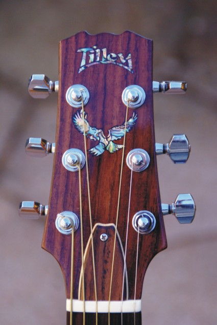 Rosewood with 'Paua' inlay