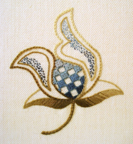 Crewel Embroidery - Blue