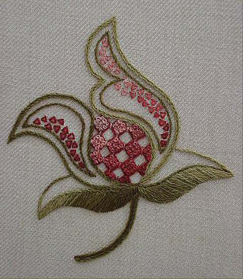 Crewel Embroidery Pink