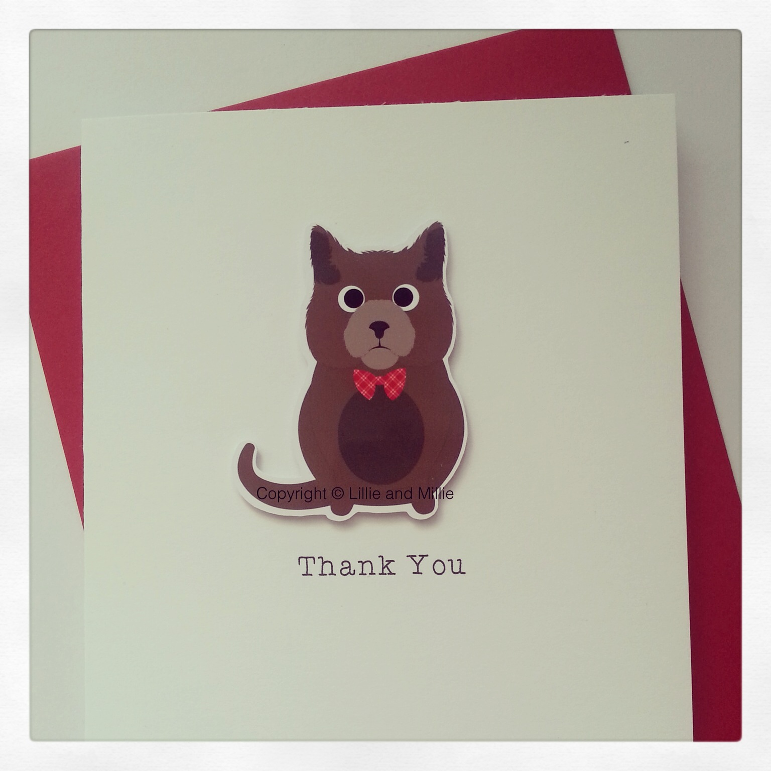 Cute and Cuddly Brown Cat Greetings Card