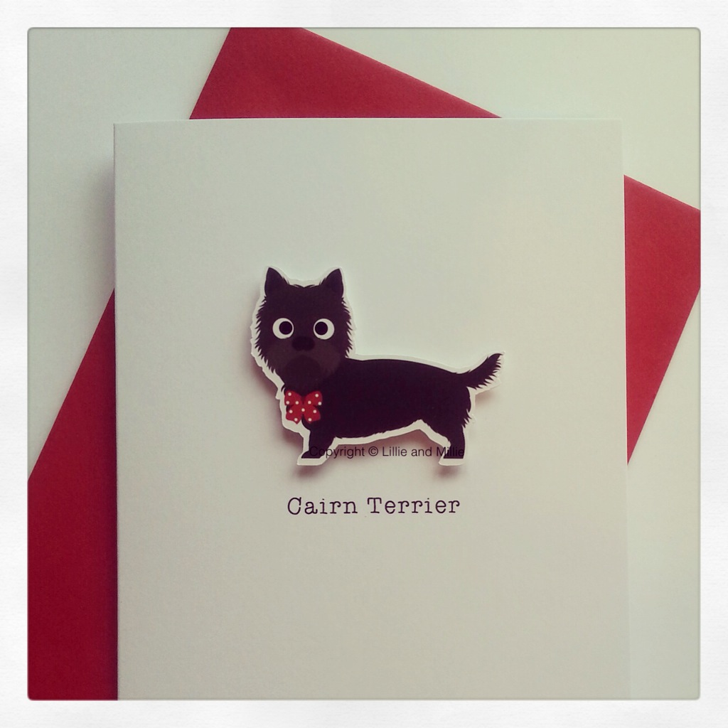 Cute and Cuddly Black Cairn Terrier Card