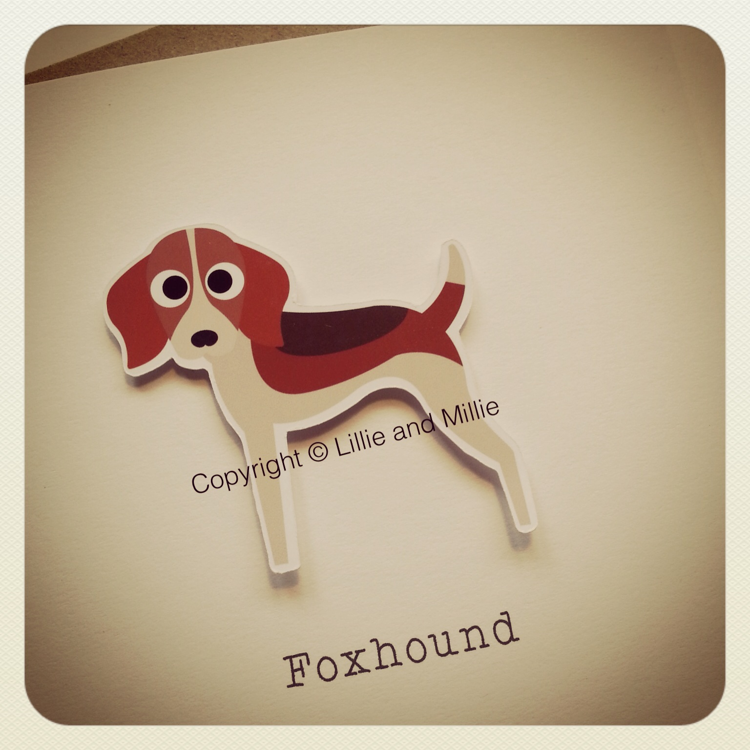 Foxhound Dog Greetings Card