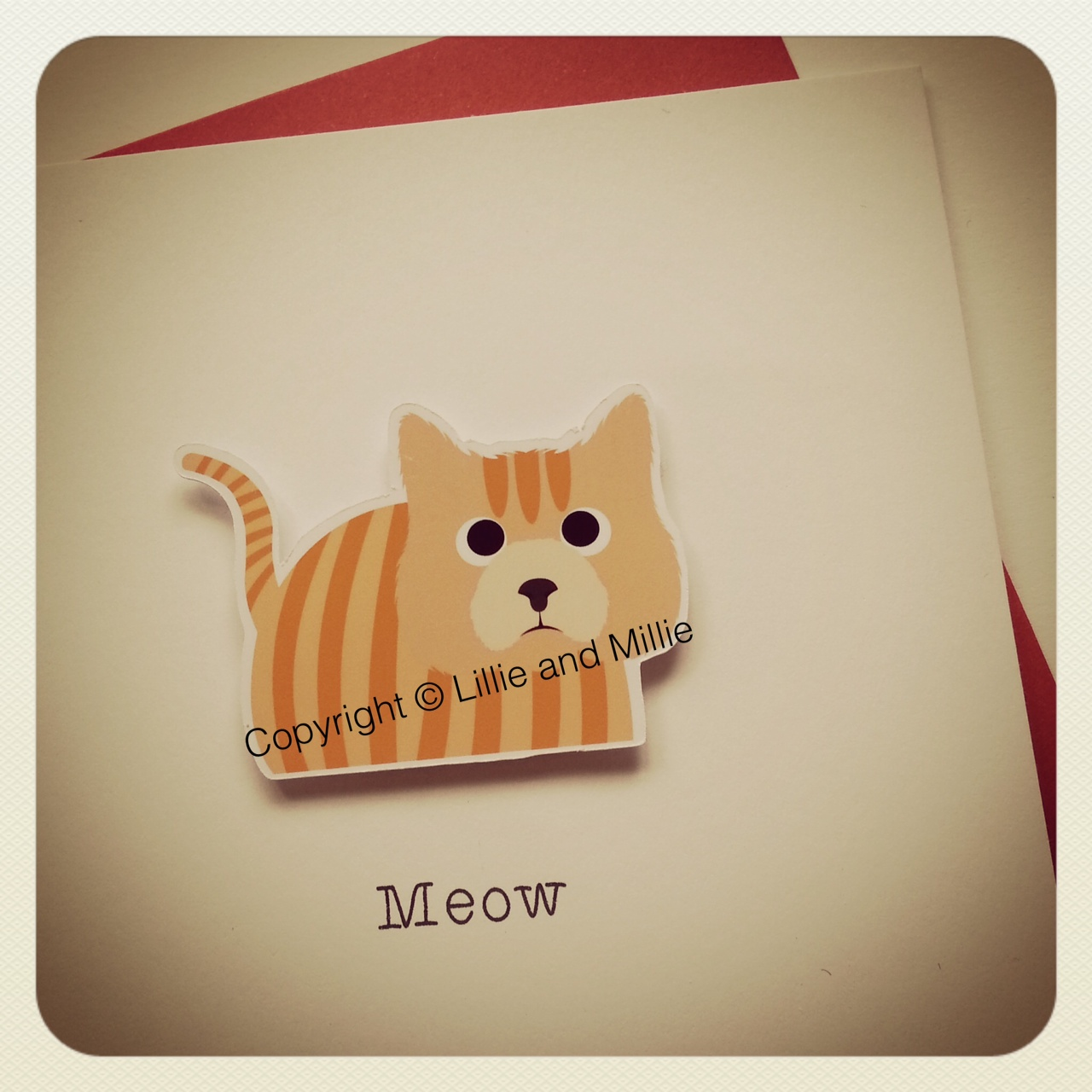 Ginger Cat Greetings Card
