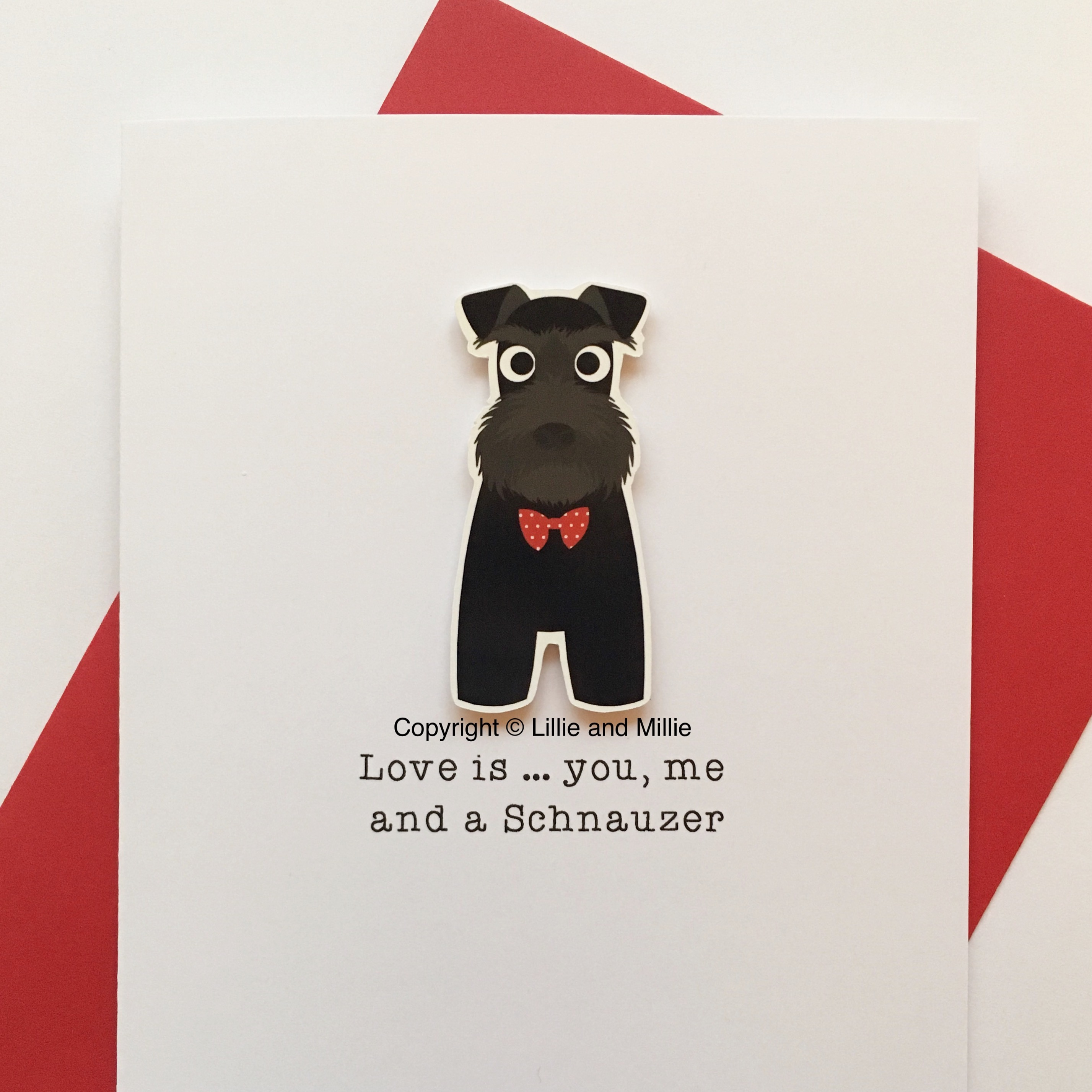 Precious Pooch Love is, You, Me and a Schnauzer Card
