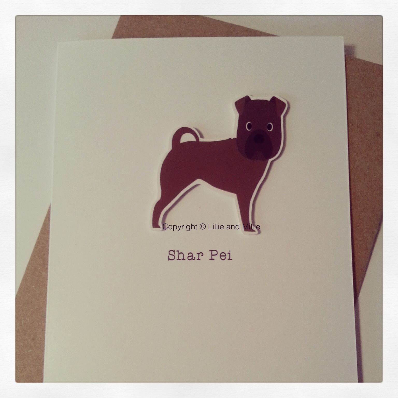 Cute and Cuddly Shar Pei Dog Greetings Card