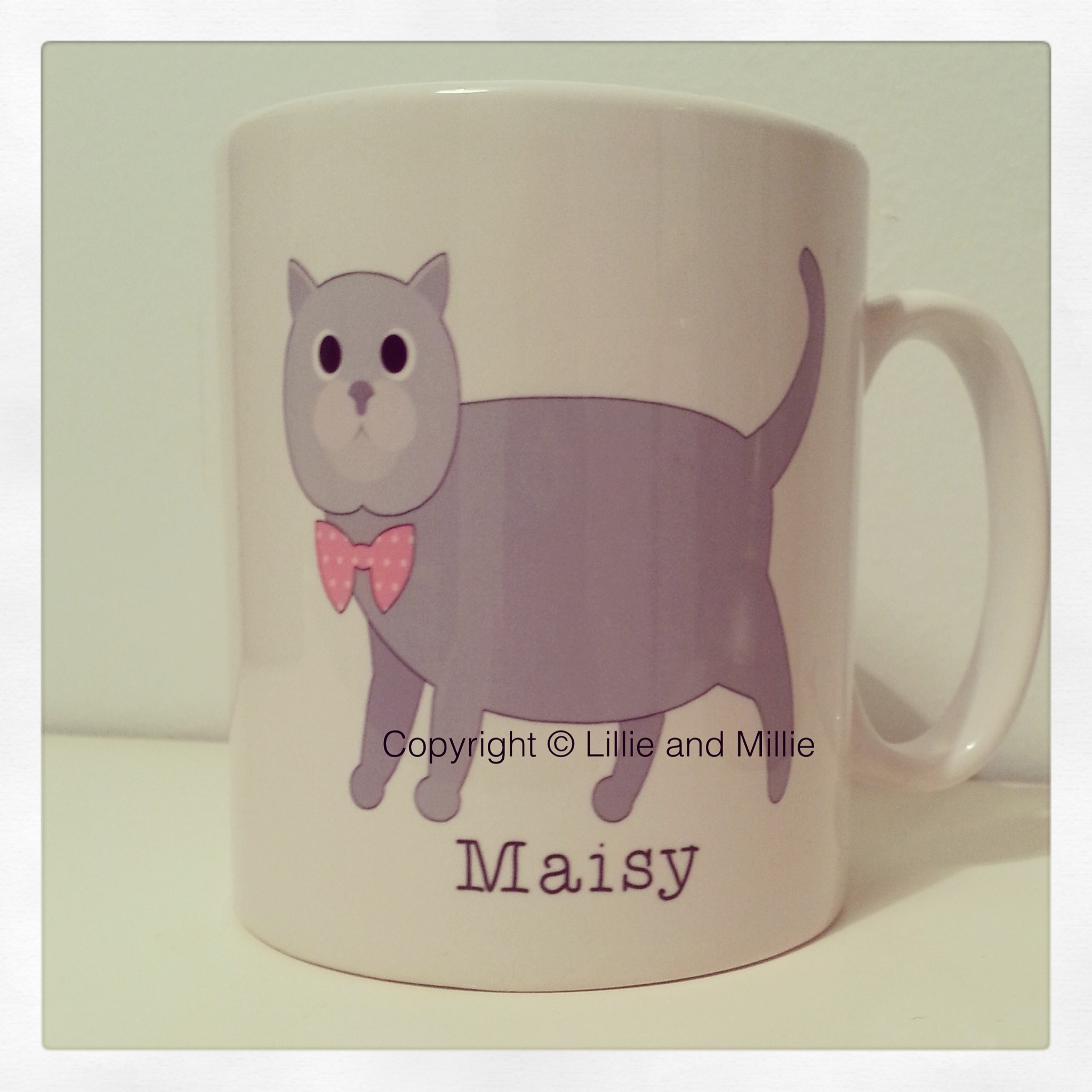Cute and Cuddly Grey Cat Mug