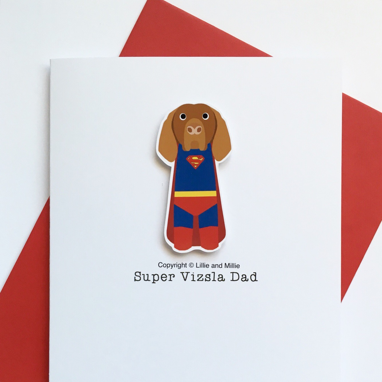 Precious Pooch Super Vizsla Dad Card