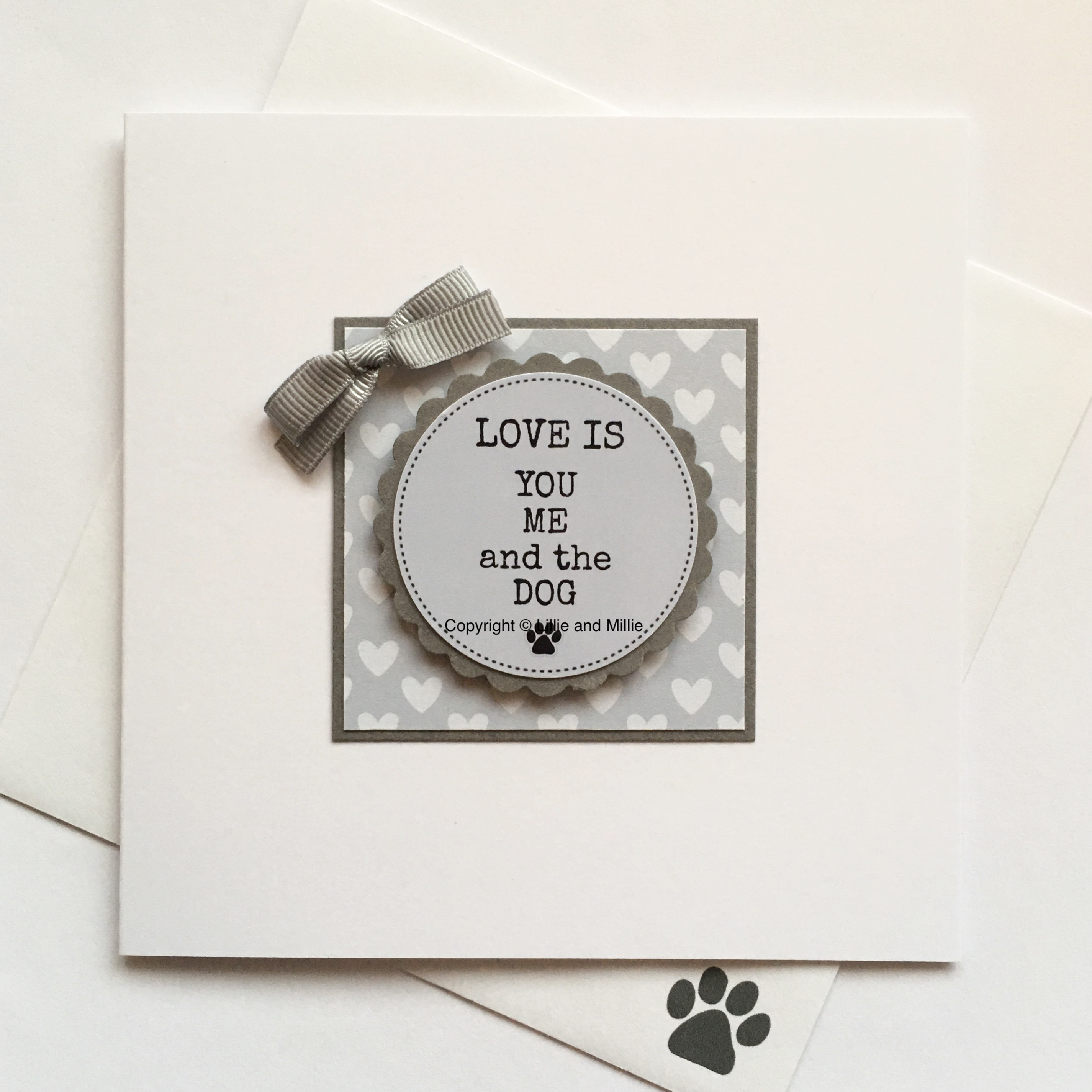 Love is You Me and the Dog Blue Card