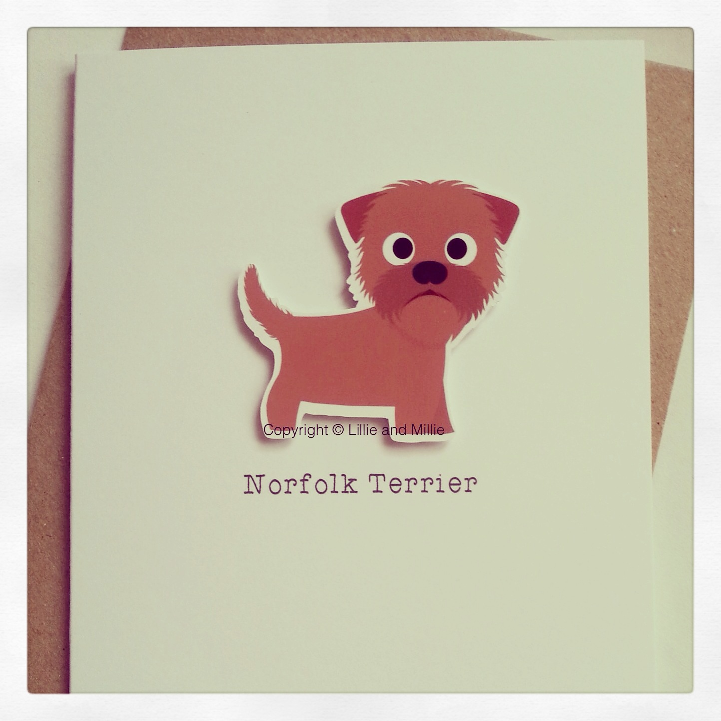 Cute and Cuddly Norfolk Terrier Card