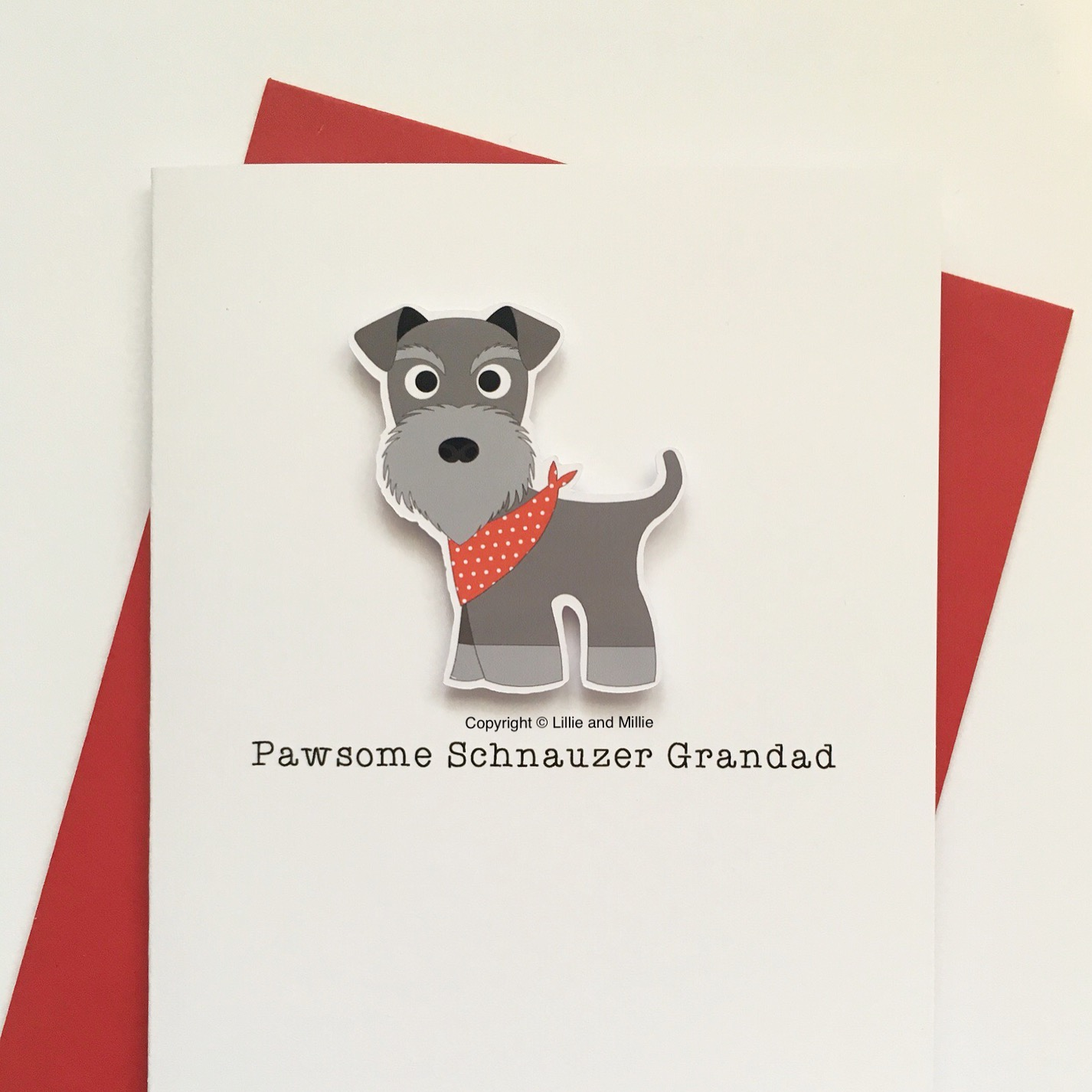 Cute and Cuddly Pawsome Schnauzer Grandad Card
