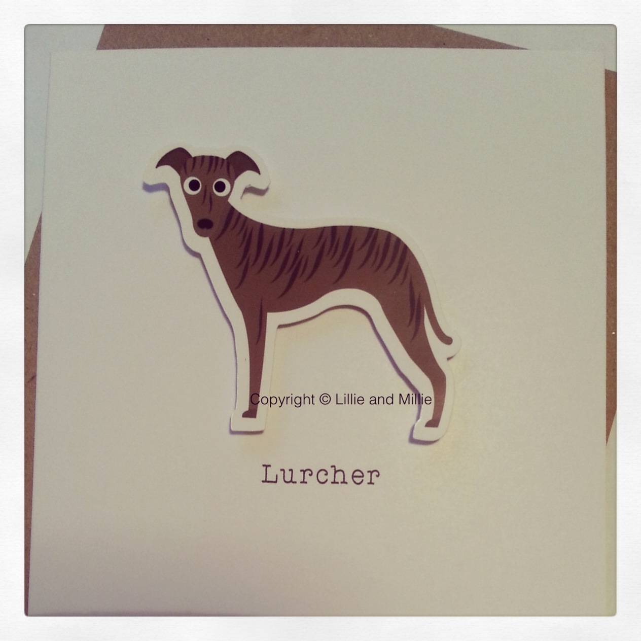 Cute and Cuddly Lurcher Card