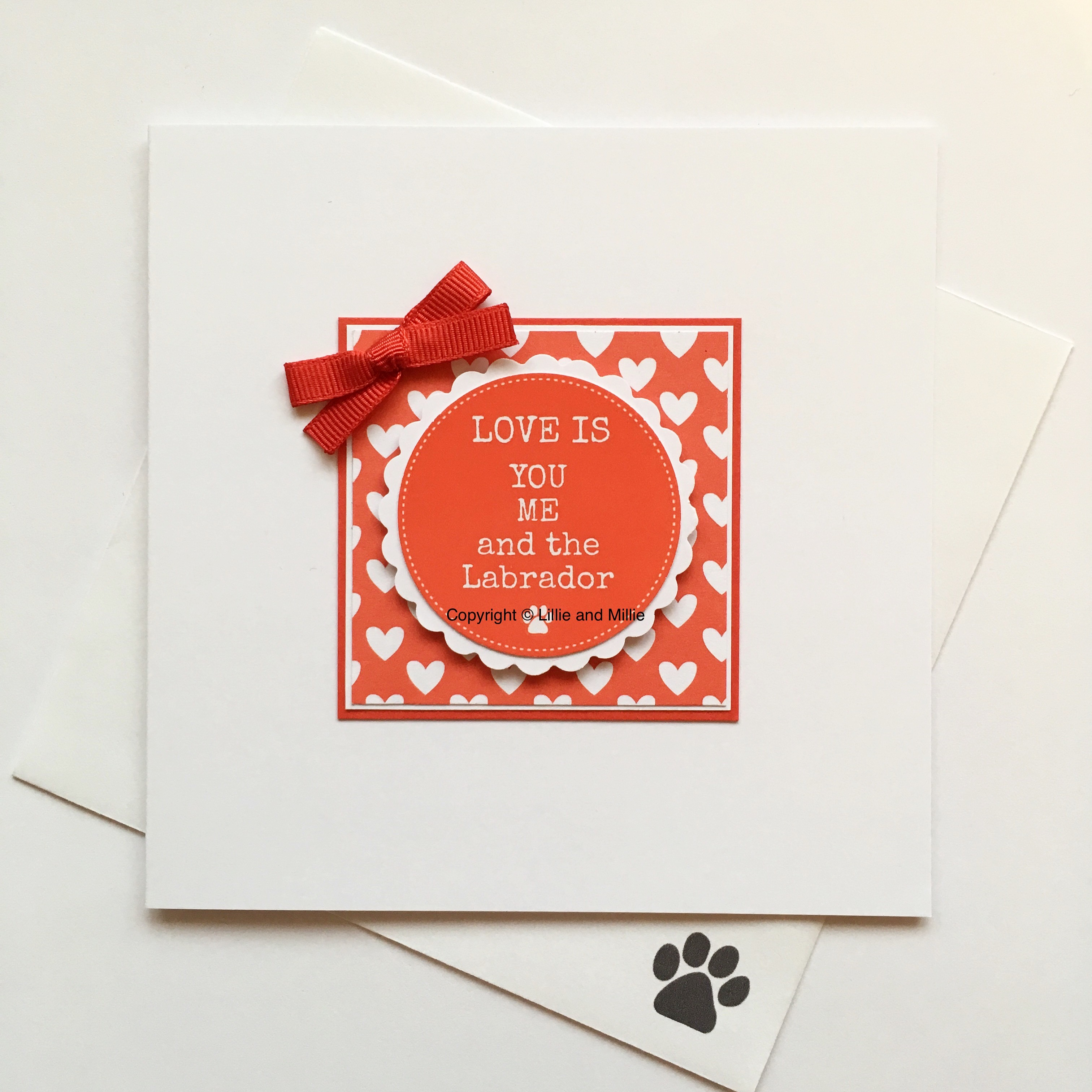 Love is You Me and the Labrador Red Card