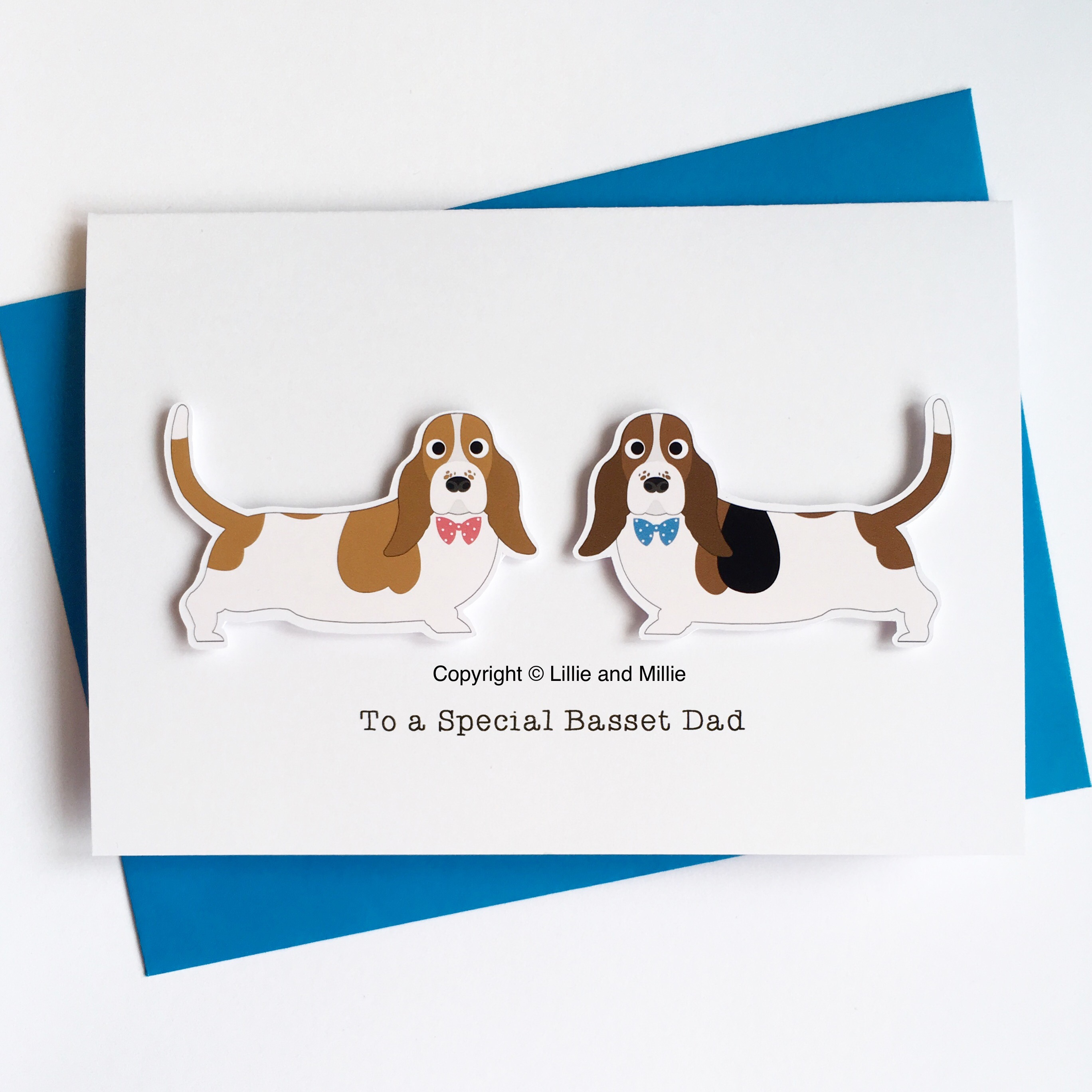 Precious Pooch Double To a Special Basset Dad Card