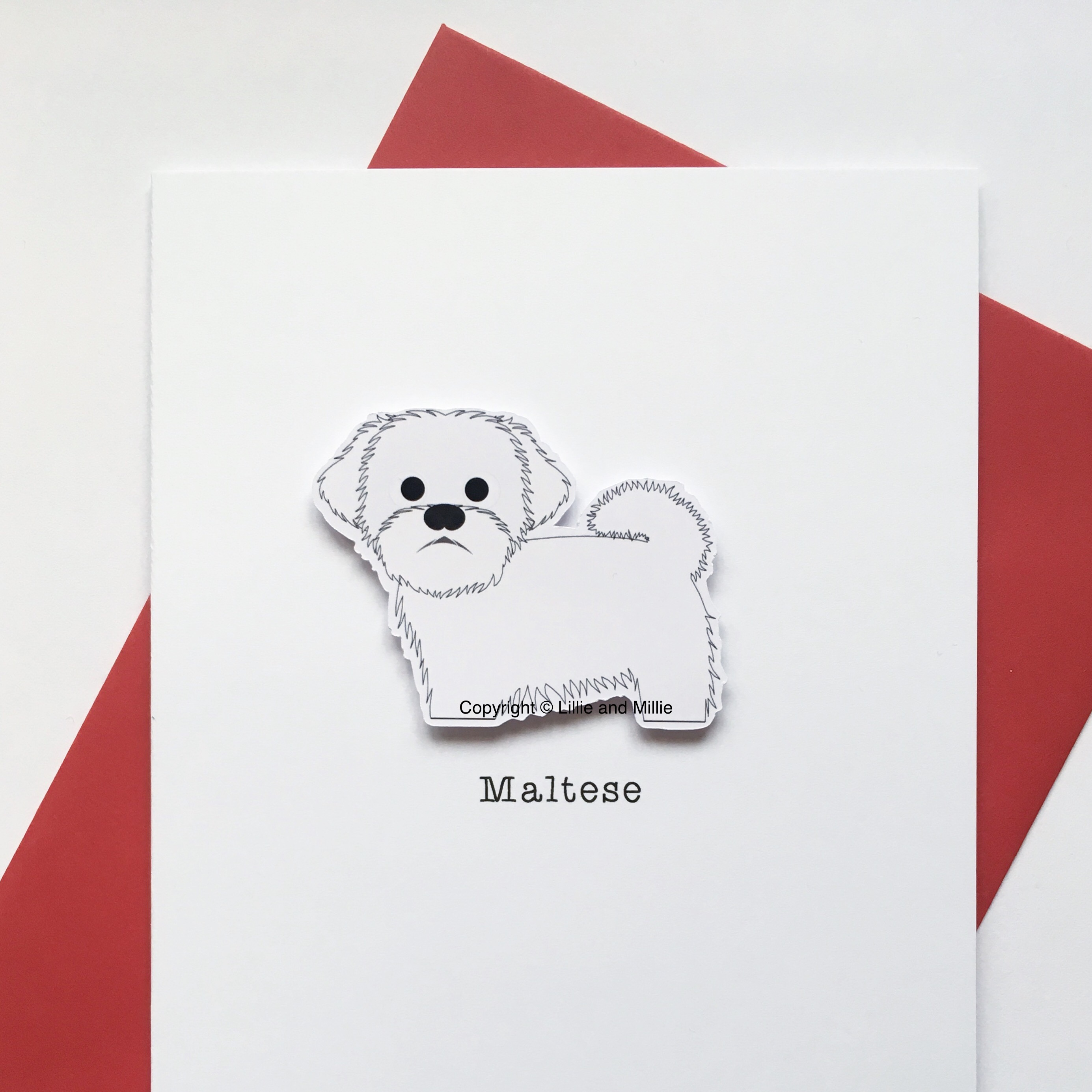 Maltese Dog Greetings Card
